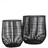 BASKET WILLOW 2/SET BLACK