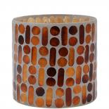 CANDLE HOLDER MOSAIC BROWN LARGE