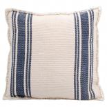 CUSHION COVER CANVAS BLUE STRIPE 50X50