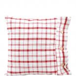 CUSHION COVER LINEN CHEQUERED 50 X 50 RED