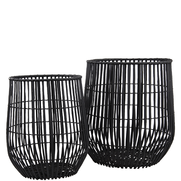 BASKET WILLOW 2/SET BLACK i gruppen Dekoration / Korgar & Kransar hos Miljögården (097485)