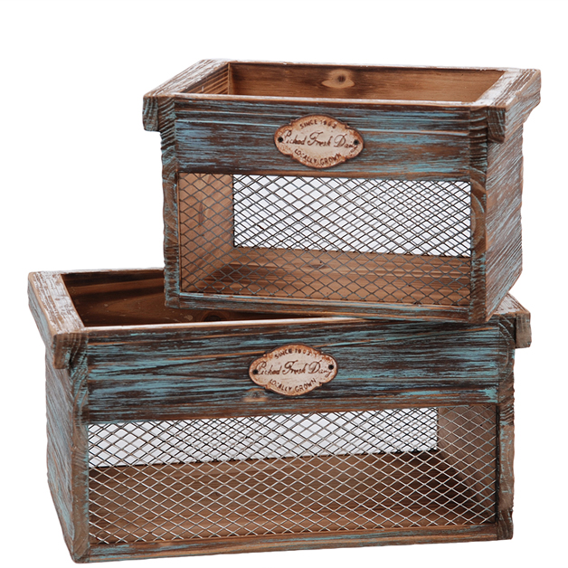 wooden boxes storage