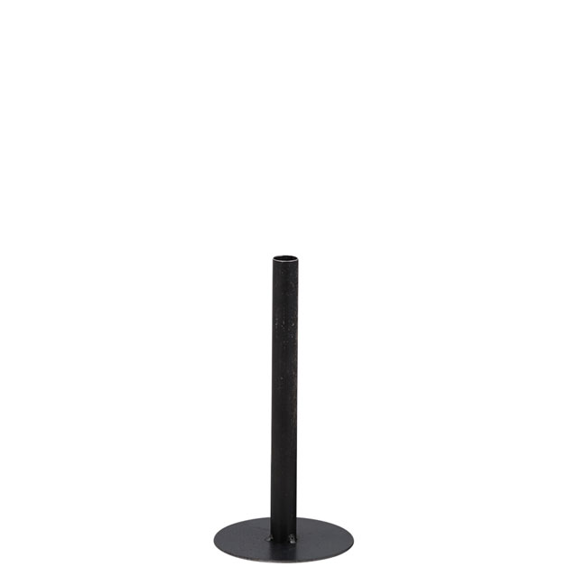 CANDLE HOLDER CHIMNEY SMALL BLACK i gruppen Dekoration / Ljuslyktor hos Miljögården (429485)
