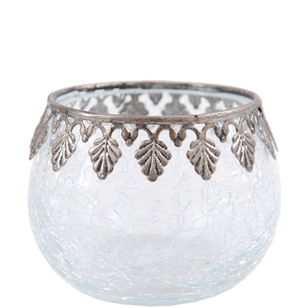 CANDLE HOLDER SILVER DIAMOND EDGE SMALL i gruppen Dekoration / Ljuslyktor hos Miljögården (563200)