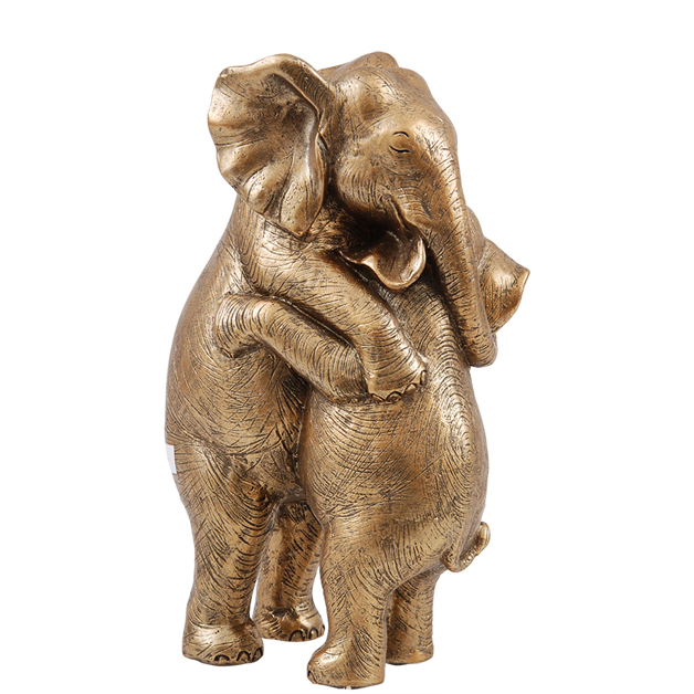 decoration elephants hugging