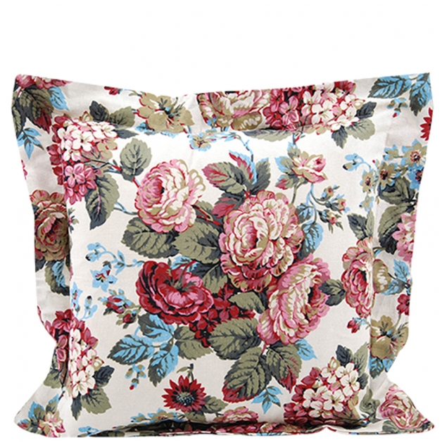 CUSHION COVER LIGHT ROSES 45 X 45 i gruppen Textilier / Kuddar & Dynor hos Miljögården (632388)
