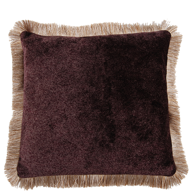 CUSHION COVER LONDON WITH FRINGES 45X45CM PURPLE i gruppen Textilier / Kuddar & Dynor hos Miljögården (641736)