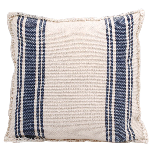 CUSHION COVER CANVAS BLUE STRIPE 50X50 i gruppen Textilier / Kuddar & Dynor hos Miljögården (672580)