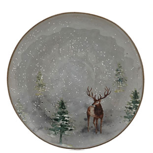 PLATE WINTER SMALL GREY