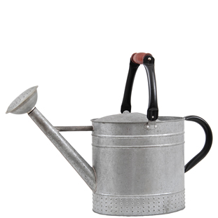 WATERING CAN ZINK WITH WOODEN GRIP