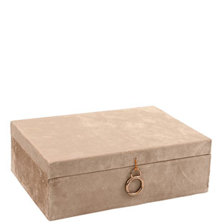 JEWELRY BOX AZAY RECTANGULAR BEIGE