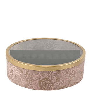 JEWELRY BOX AZAY ROUND PINK