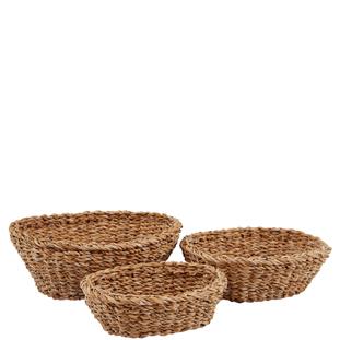 BASKET CHARI OVAL 3/SET