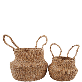 BASKET CHARI WITH HANDELS 2/SET
