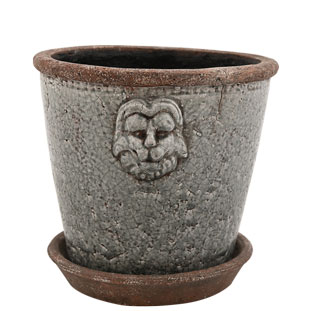 POT LION MEDIUM Ø19,5CM GREY