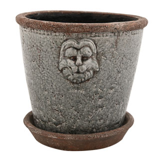 POT LION LARGE Ø24CM GREY