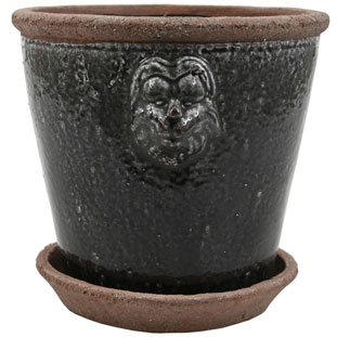 POT LION LARGE  BLACK