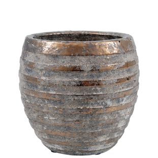 POT TYRA MEDIUM 19 BRONZE