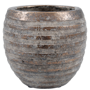 POT TYRA LARGE 25,5 BRONZE