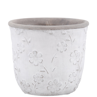 POT FLOWERS 14,4CM WHITE