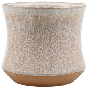 POT ATLANTIC LARGE Ø15CM CREAM