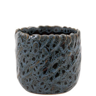 POT LEOPARD SMALL 11CM BLUE