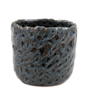 POT LEOPARD MEDIUM 13CM BLUE