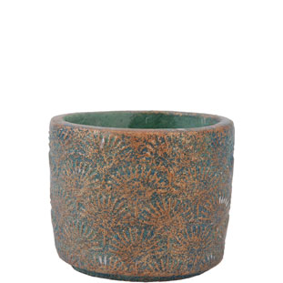 POT AVA SMALL 11 GREEN/BRONZE