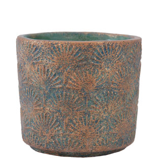 POT AVA MEDIUM 14 GREEN/BRONZE