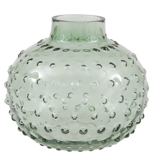 VASE SMALL BUBBLES LARGE GREEN