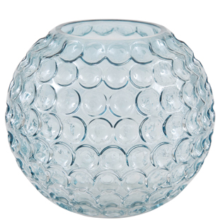 VASE BIG BUBBLES BLUE