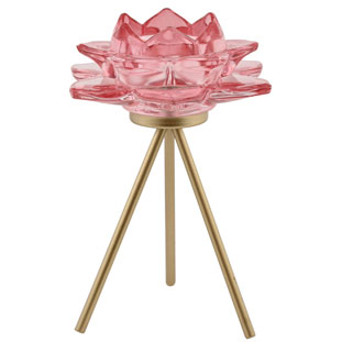 CANDLE HOLDER AZU  LIGHT PINK