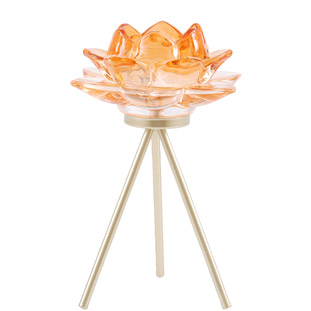 CANDLE HOLDER AZU ORANGE