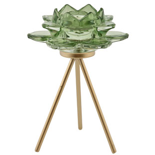 CANDLE HOLDER AZU LIGHT GREEN