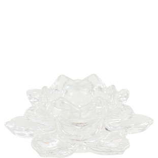 CANDLE HOLDER AZU LOTUS CLEAR