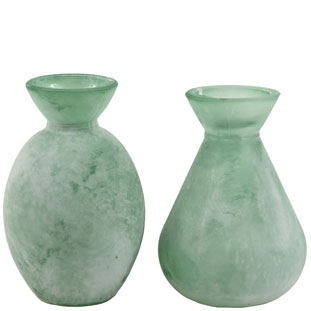 VASE DUSTY 2ASS GREEN