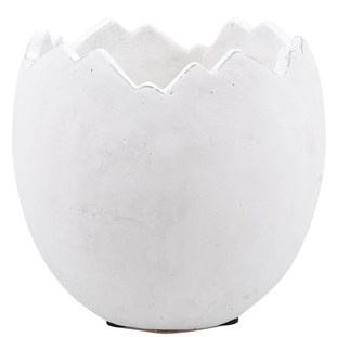 POT EGGSHELL LARGE