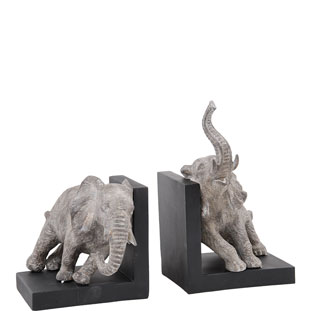BOKSTÖD ELEPHANTS 2/SET