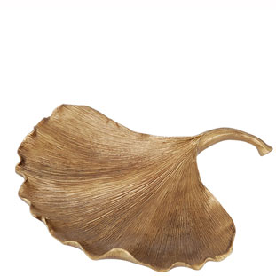 LEAF PLATE  LEO LARGE GOLD