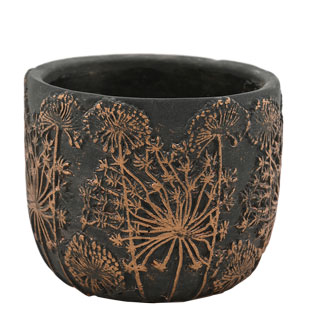 POT BELISSA SMALL Ø14,5CM BLACK/BRONZE