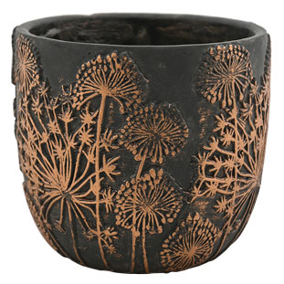 POT BELISSA MEDIUM Ø17,5CM BLACK/BRONZE