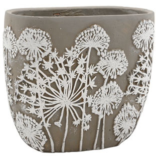 POT BELISSA LARGE GREY/WHITE