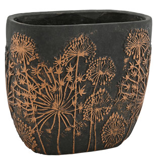 POT BELISSA LARGE BLACK/BRONZE