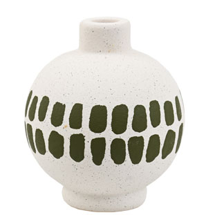CANDLE HOLDER KLANG LARGE GREEN/WHITE