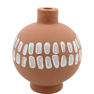 CANDLE HOLDER KLANG LARGE TERRACOTTA