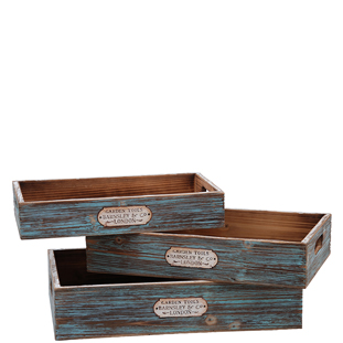 WOODEN TRAY PAPIN 3/SET
