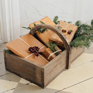 WOOD BASKET OAK