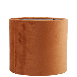 LAMP SHADE VELVET LUX E14/27 19X17CM ORANGE SMALL
