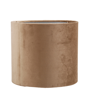 LAMP SHADE VELVET LUX E14/27 19X17CM TAUPE SMALL