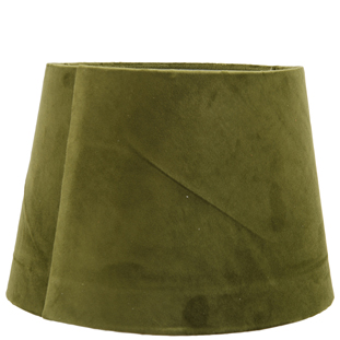 LAMP SHADE VELVET LUX E14/E27 28X20CM GREEN MEDIUM